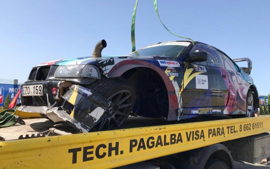 "Sandros Žilienės BMW avarija ""Automotive.lt Drift Camp"" renginyje"