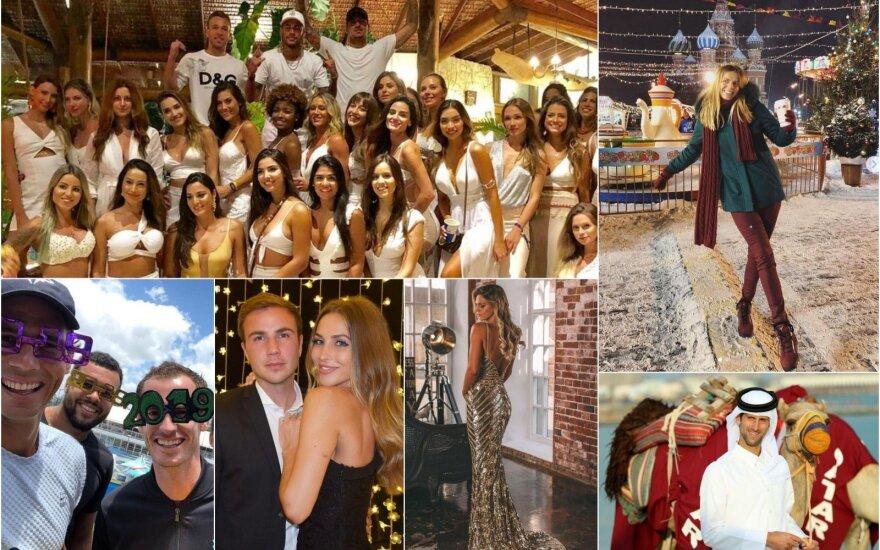 Kaip Naujuosius sutiko sporto pasaulis: nuo Ronaldo ir Neymaro – iki Palšytės ir Jefimovos