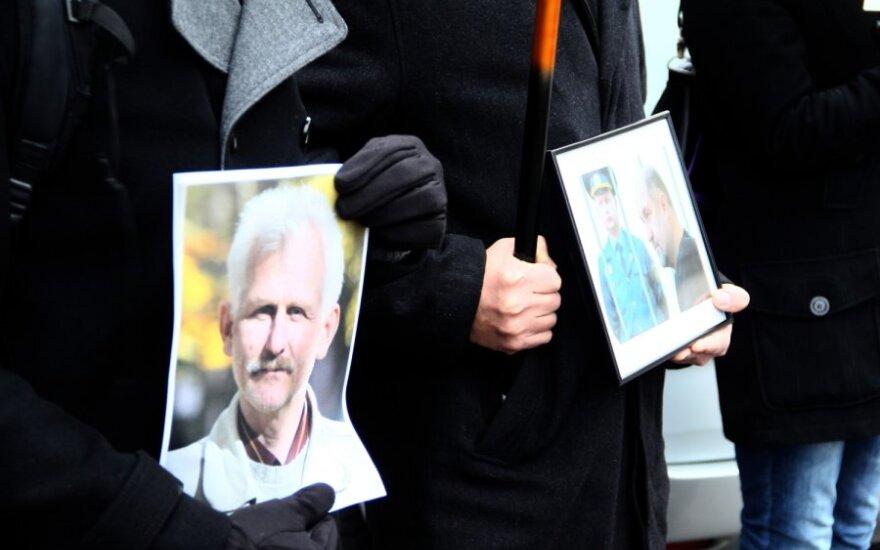 Vilniuje įvyko solidarumo su Baltarusijoje nuteistu A.Beliackiu akcija