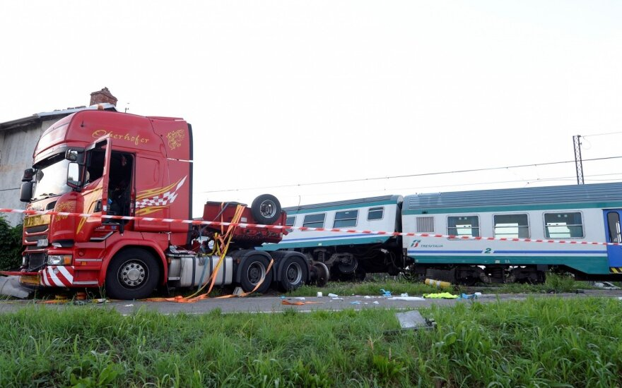 Italian truck-train crash driver returning to Lithuania