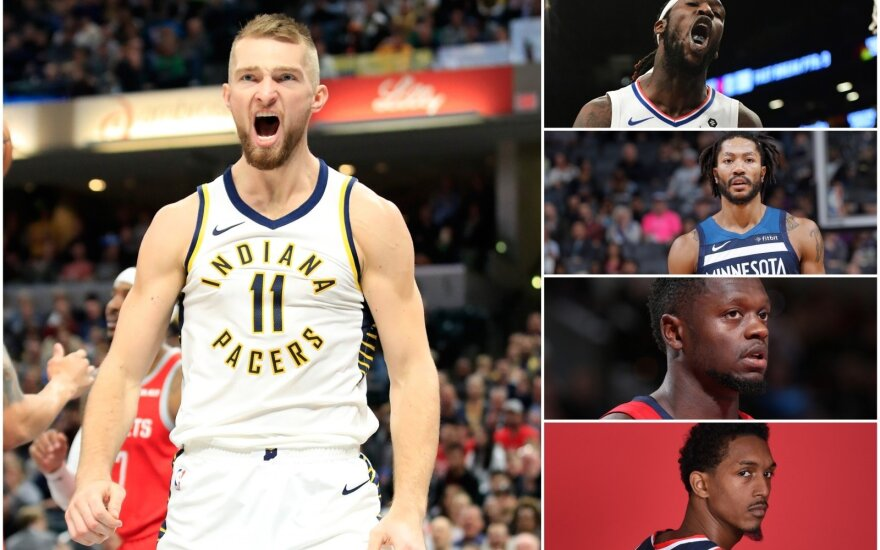 Domantas Sabonis, Montrezlas Harrellas, Derrickas Rose'as, Julius Randle'as, Lou Williamsas