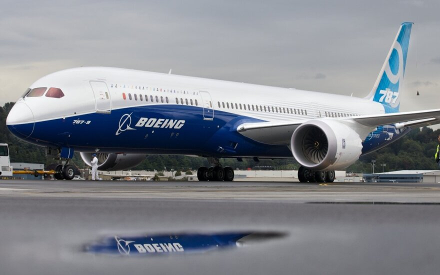 Naujojo Boeing Dreamliner modelio skrydis