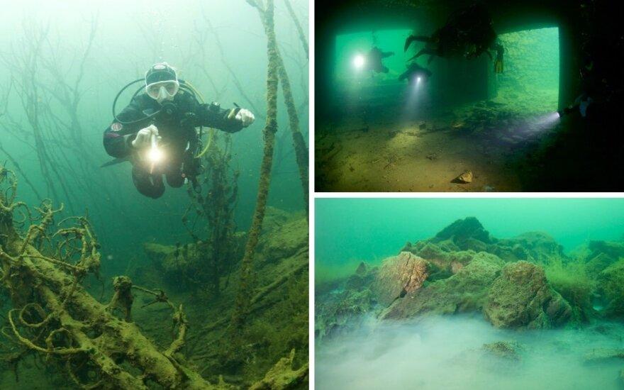 Lietuvos narai apsilankė po vandeniu atsidūrusiame estų kalėjime: vaizdai nuotraukose gniaužia kvapą