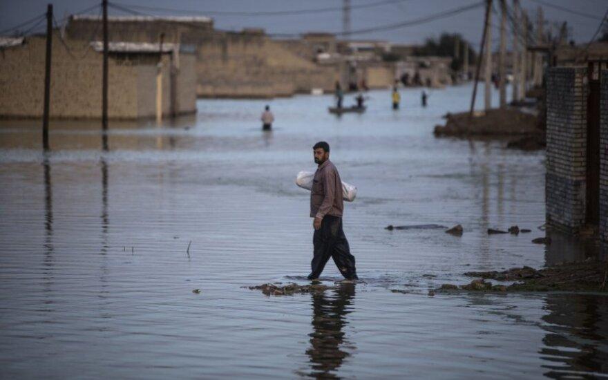 Irane per potvynius žuvusių žmonių skaičius išaugo iki 76