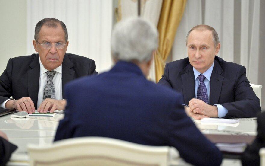 Sergejus Lavrovas, Johnas Kerry,  Vladimiras Putinas