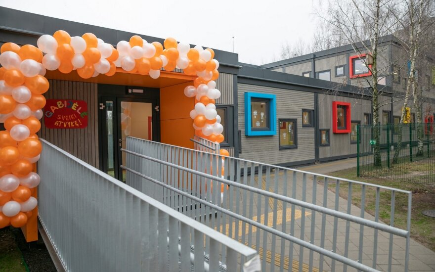 Pašilaičiuose atidarytas modulinis vaikų darželis