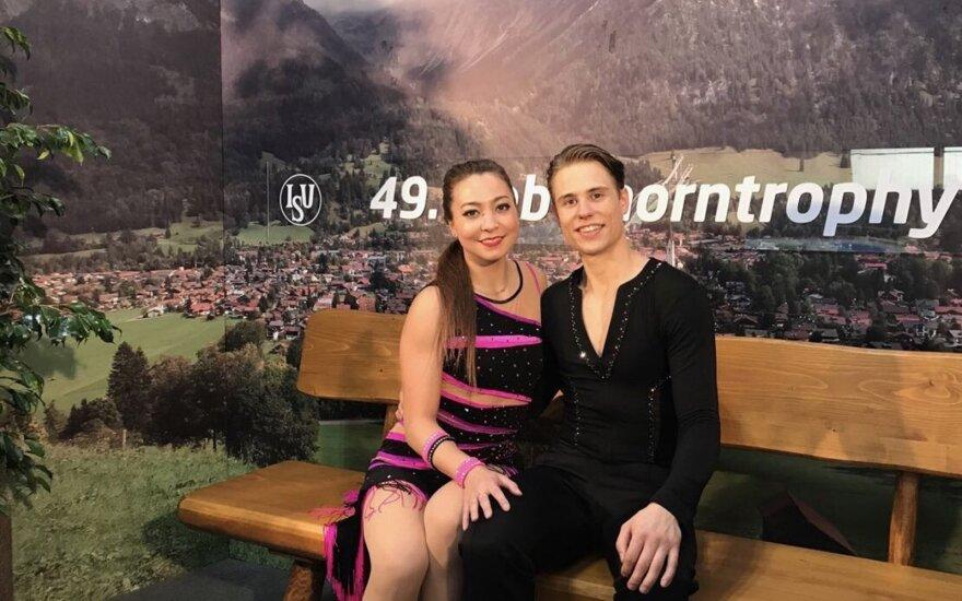 Allison Reed ir Saulius Ambrulevičius (Foto: Lietuvos čiuožimo federacija)