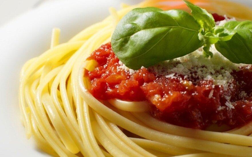Penki spagečių padažų receptai