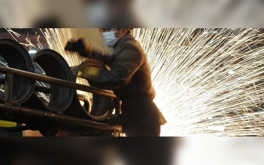 Kinijos gamybos sektorius atsigauna