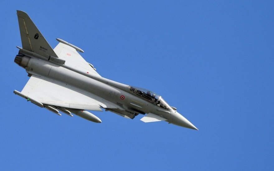 """Ispanijoje sudužo karo lėktuvas """"Eurofighter"""""""