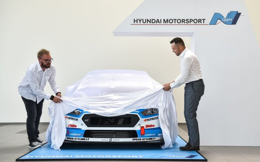 """Pasaulio čempionato lyderis """"Hyundai i30 N TCR"""" varžysis Lietuvoje"""