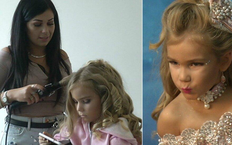 Dukrą nuo ketverių į mažųjų mis konkursus lydinti lietuvė E. Milne: ar grožis padės dukrai gyvenime? Faktas!