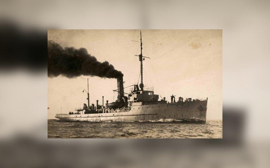 Karinių jūrų pajėgų laivas, Lietuvos centrinio valstybės archyvo nuotr.