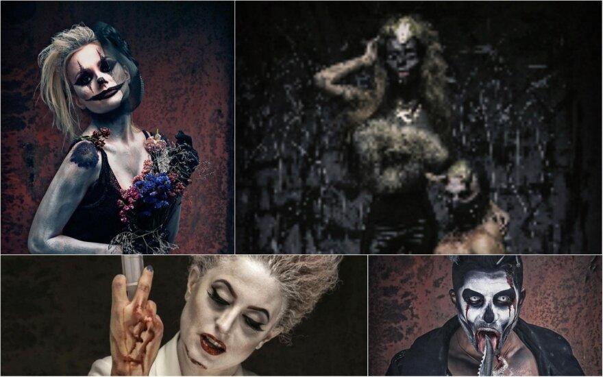 Žvaigždės su Helovino kaukėmis FOTO: Mindaugas Butkus