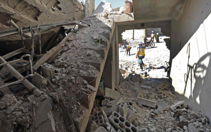 Per sprogimą Sirijos šiaurėje žuvo penki žmonės