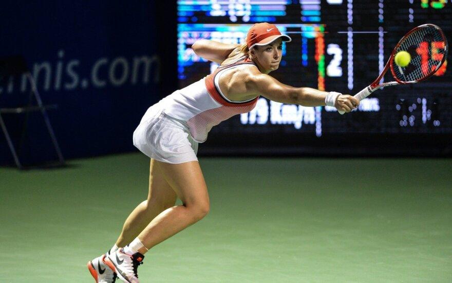 WTA turnyro JAV starte – favoričių pergalės