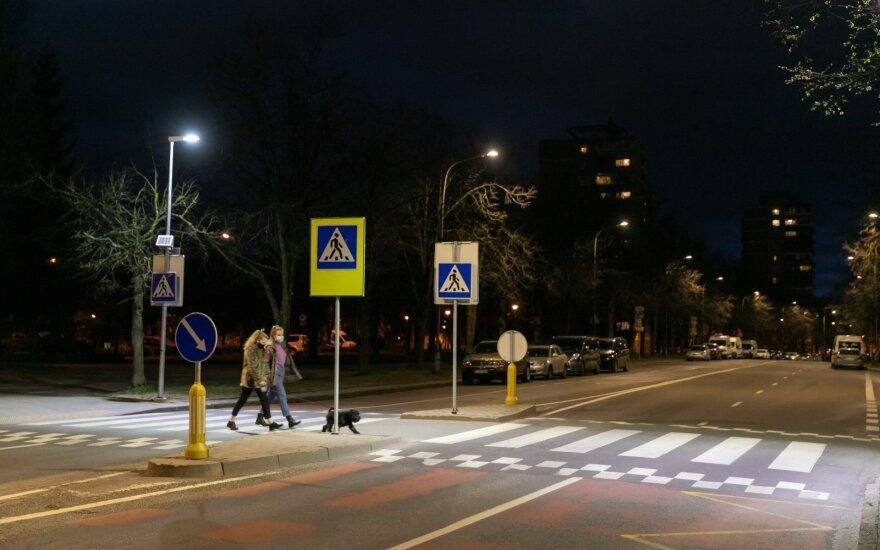 Vilniaus pėsčiųjų perėjose įrengiamas LED apšvietimas