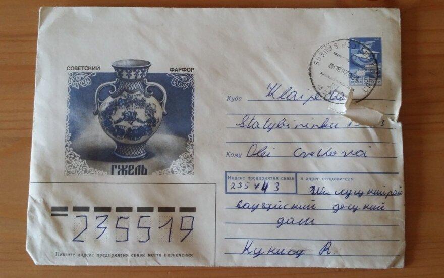 Atsiliepkite! Ieškomas prieš 30 metų siųsto laiško gavėjas