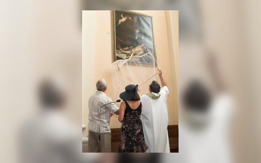 Vilniaus Šv.Kazimiero bažnyčią pasiekė meno vertybė iš Rusijos