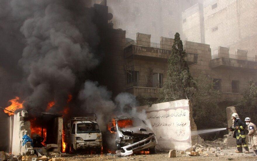 Rusija tvirtina pratęsianti moratoriumą Alepo bombardavimui