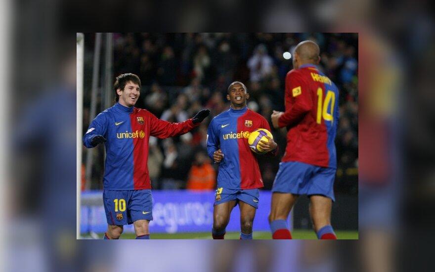 "Lionelis Messi, Thierry Henry ir Samuelis Etoo (""Barcelona"")"