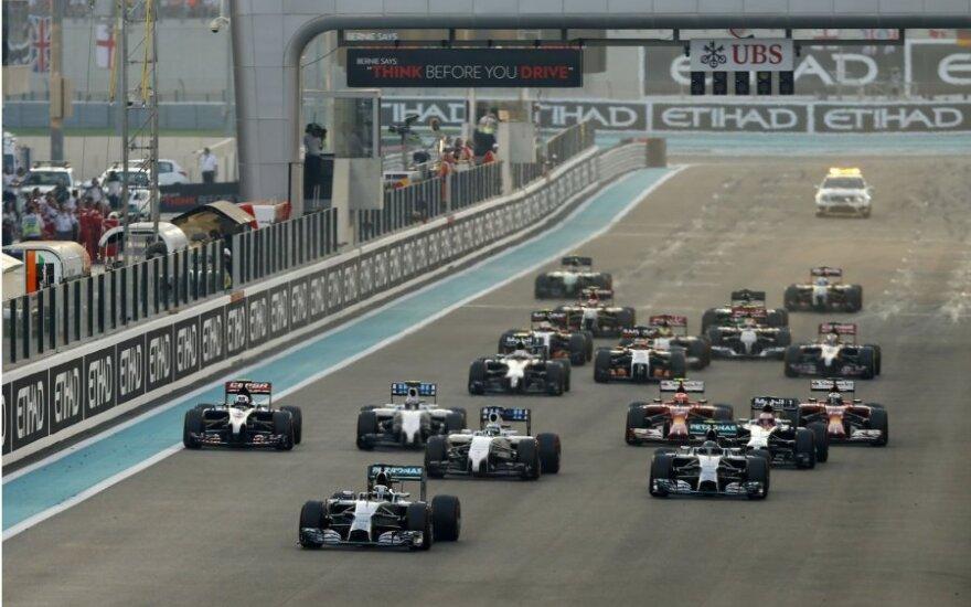 """""""Formulės-1"""" lenktynės Abu Dabyje"""