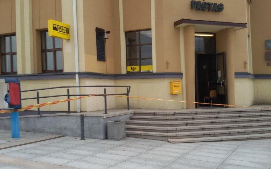 Evakuotas Marijampolės centrinis paštas
