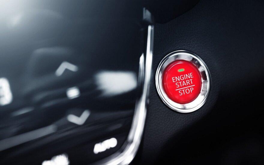 Automobilio starto mygtukas