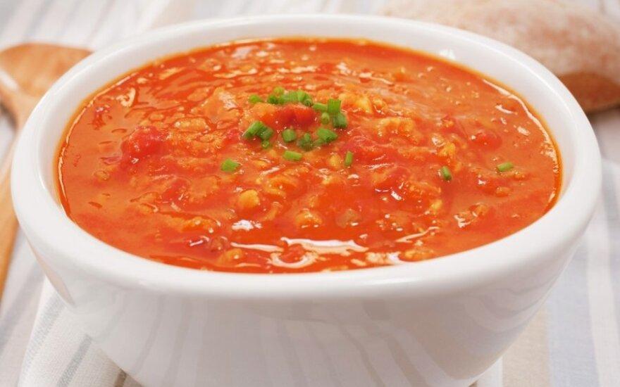 Pomidorinė lęšių sriuba
