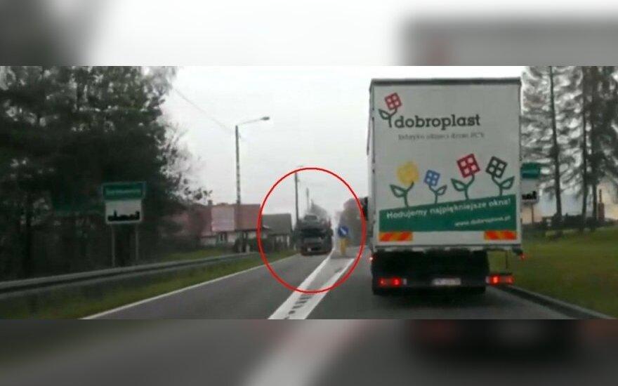 Lietuvis vairuotojas Lenkijoje