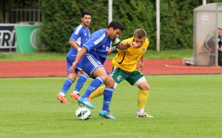 Kontrolinės U-19 futbolo rungtynės: Lietuva - Kipras