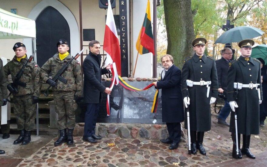 Kobylkoje atidengta lietuviška atminimo lenta