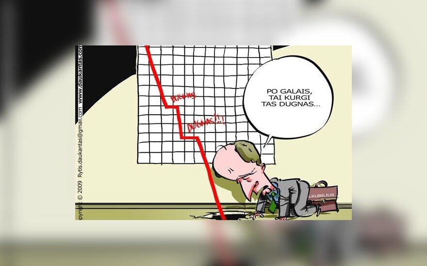 Ekonomistai Lietuvai sukrėtimų nežada, trečiadienis parodys, ar bus tolesnis ES kritimas į dugną