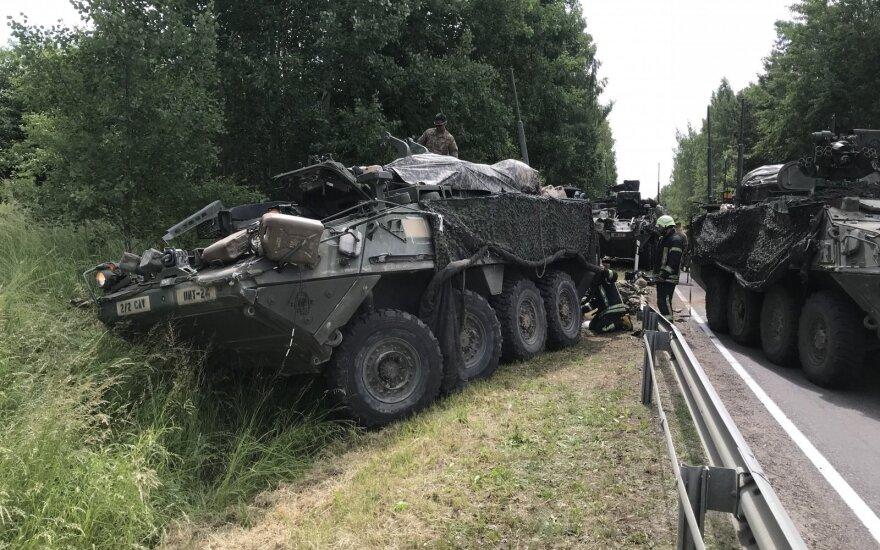 NATO šarvuočių avarija netoli Prienų tapo propagandistų taikiniu: sukurta bjauri melaginga naujiena