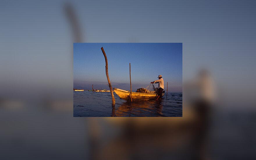 Meksika, žvejys