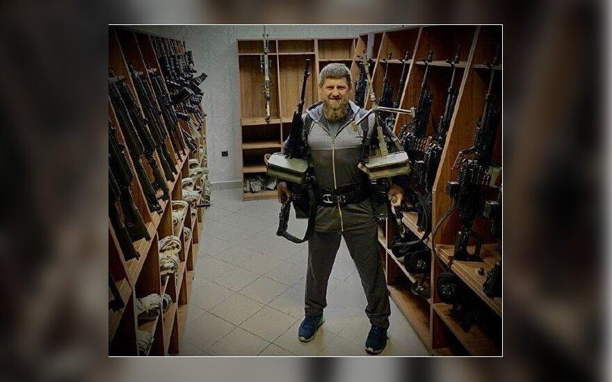 "Ramzano Kadyrovo nuotrauka ""Telegram"""