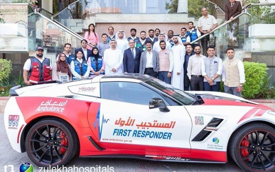 Dubajaus greitosios pagalbos tarnyba apsirūpino naujais automobiliais
