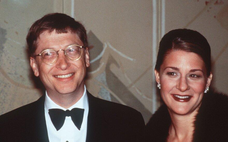 Billas Gatas su žmona Melinda