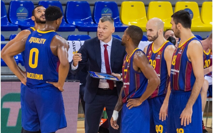 "Šarūnas Jasikevičius, ""Barcelona"" / FOTO: ""Barcelona"" Twitter"""