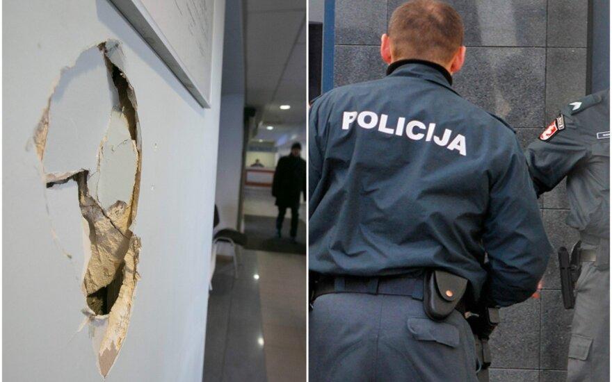 Vilniaus teisme – dar neregėtas išpuolis: sprukdamas nuo policijos išdaužė sieną