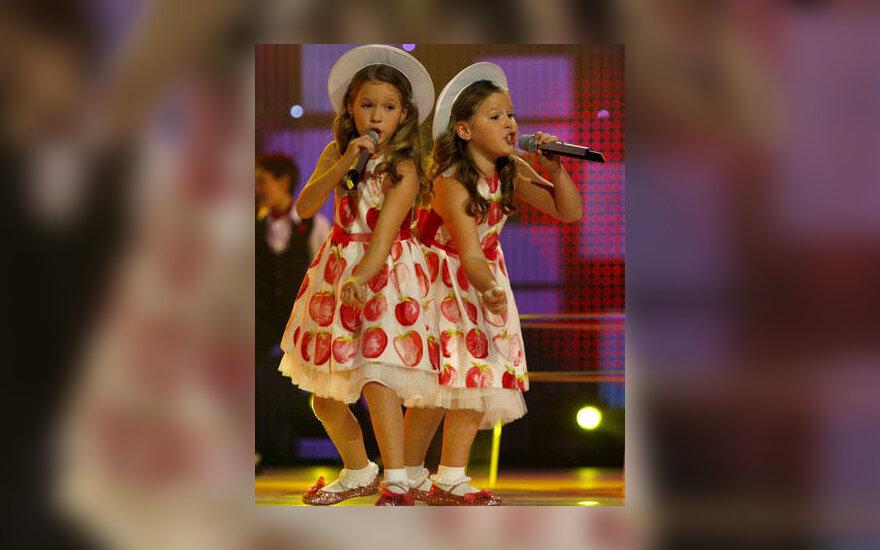 Dvynukės Anastasija ir Marija Talmačiovos nugalėjo 2006-ųjų vaikų Eurovizijoje
