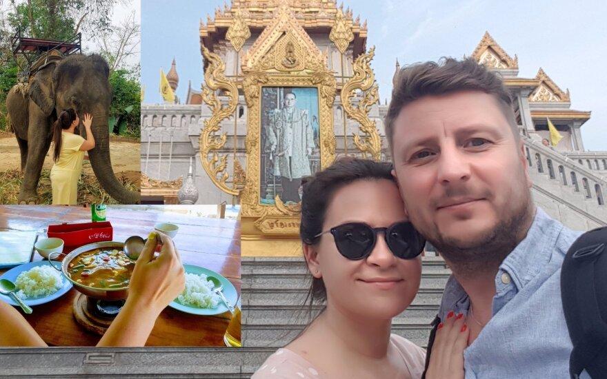 Evelinos Sašenko ir jos vyro medaus mėnesio akimirkos