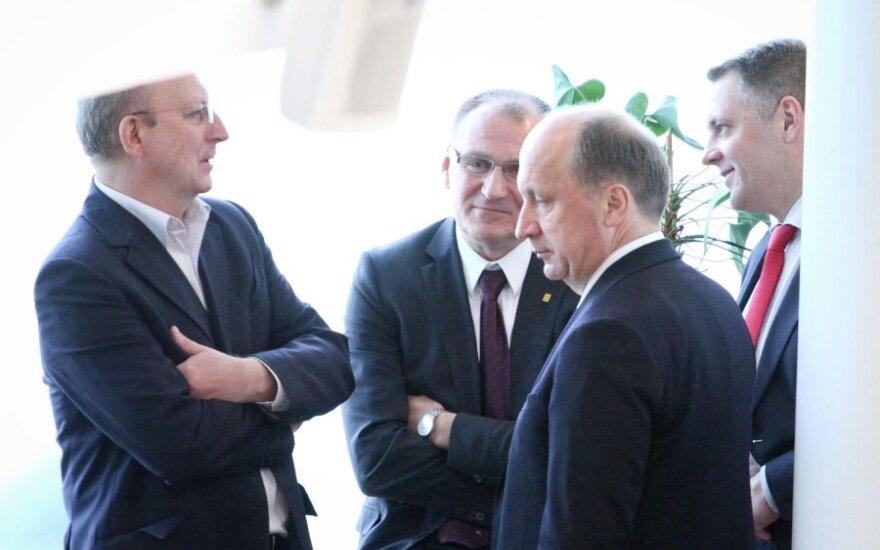 Arūnas Valinskas, Algis Čaplikas, Andrius Kubilius ir Eligijus Masiulis