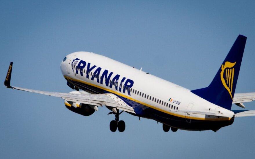 """""""Ryanair"""" nuo rudens skraidins nauju maršrutu"""