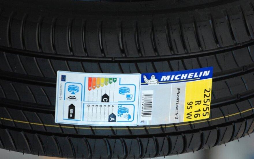 Michelin su padangų etikete
