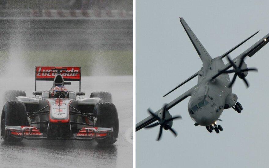Į Kazlų Rūdą užsuks ne lenktyniniai bolidai, o krovininiai karo lėktuvai