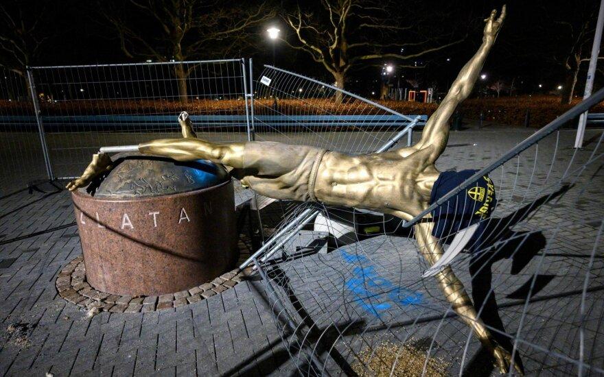 Zlatano Ibrahimovičiaus skulptūra