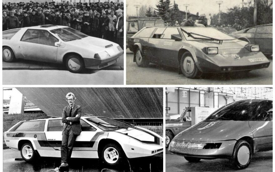 """Tarybiniai superautomobiliai """"Pangolina"""", """"Laura"""" ir """"Ochta"""""""