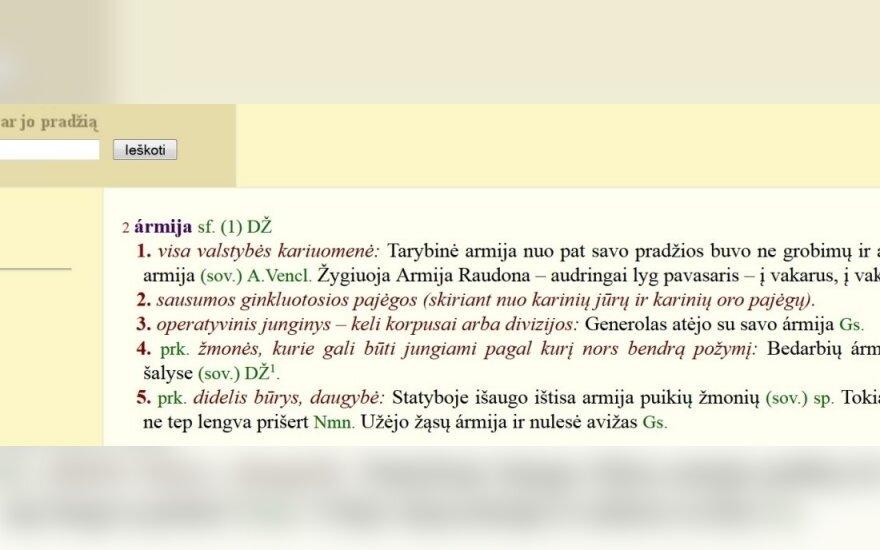 Kalbininkų siūlomi pavyzdžiai – apie tarybinę armiją