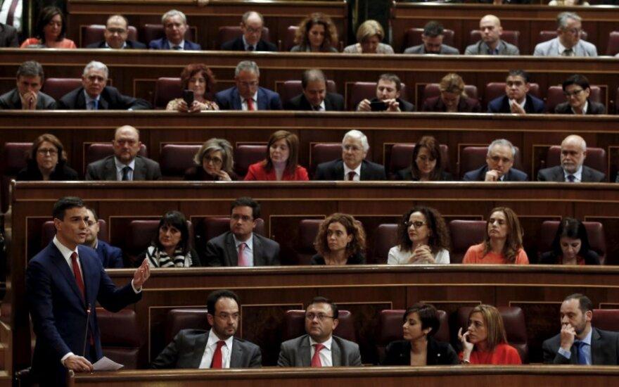 Socialistų lyderis Pedro Sanchezas Ispanijos parlamente